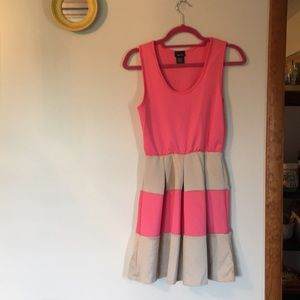 Pink and beige dress
